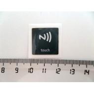 NFC NTAG203 märgis 19x19mm tume